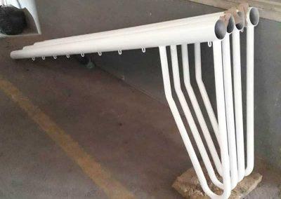 Arco de futbol armable.