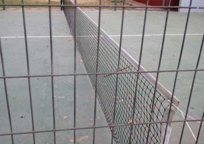 Red de tenis particular.